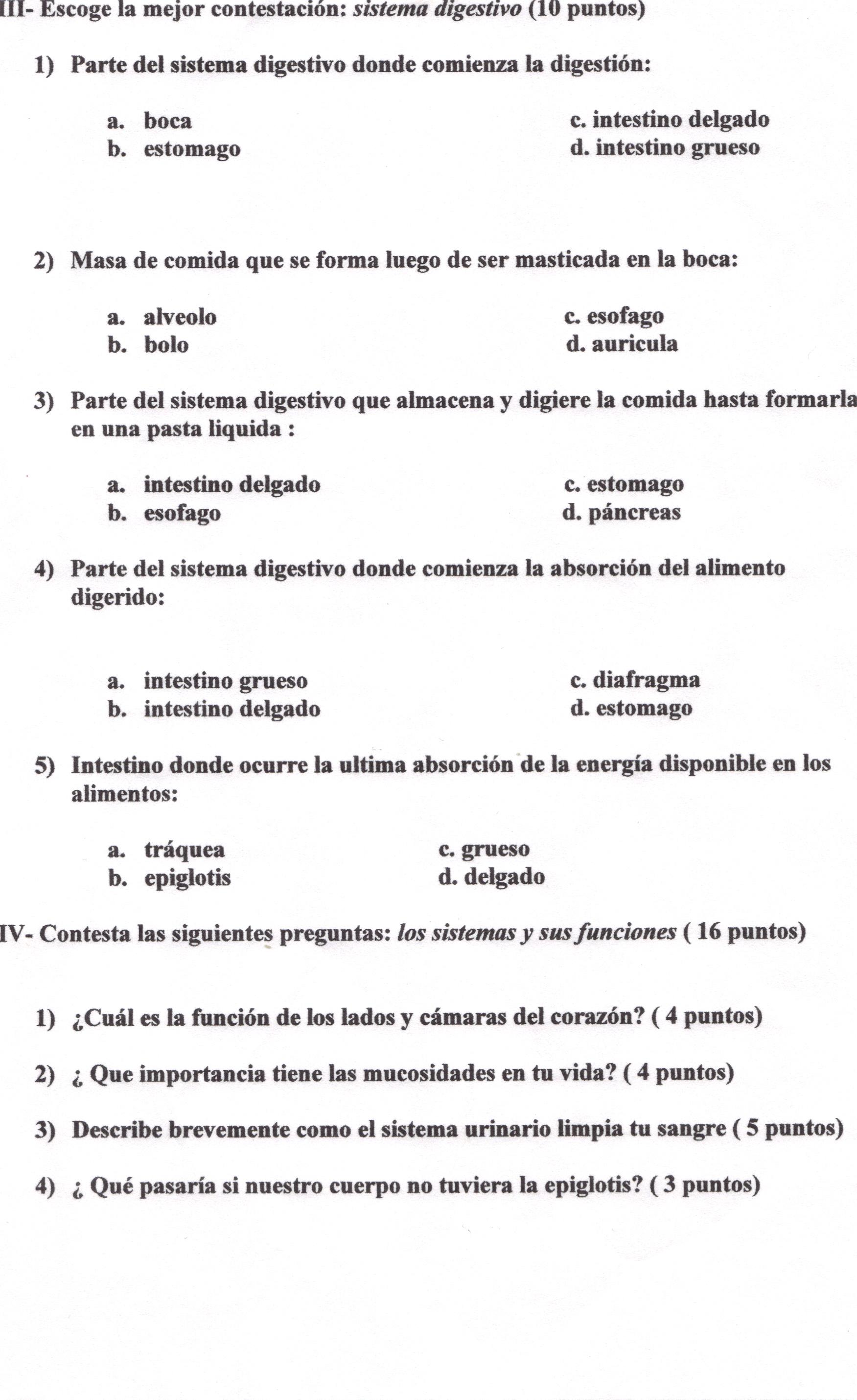 Examen: Sistemas del cuerpo